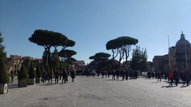 Blick aufs Kolosseum
